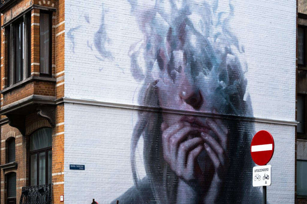 mural - henrik uldalen - the crystal ship, oostende, belgium