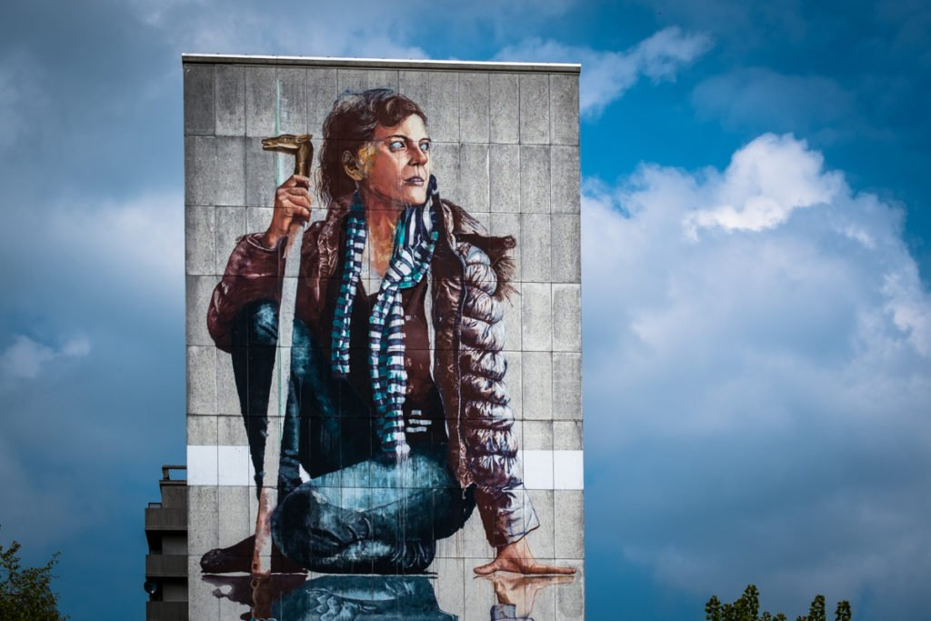 mural - fintan magee - the crystal ship, oostende, belgium