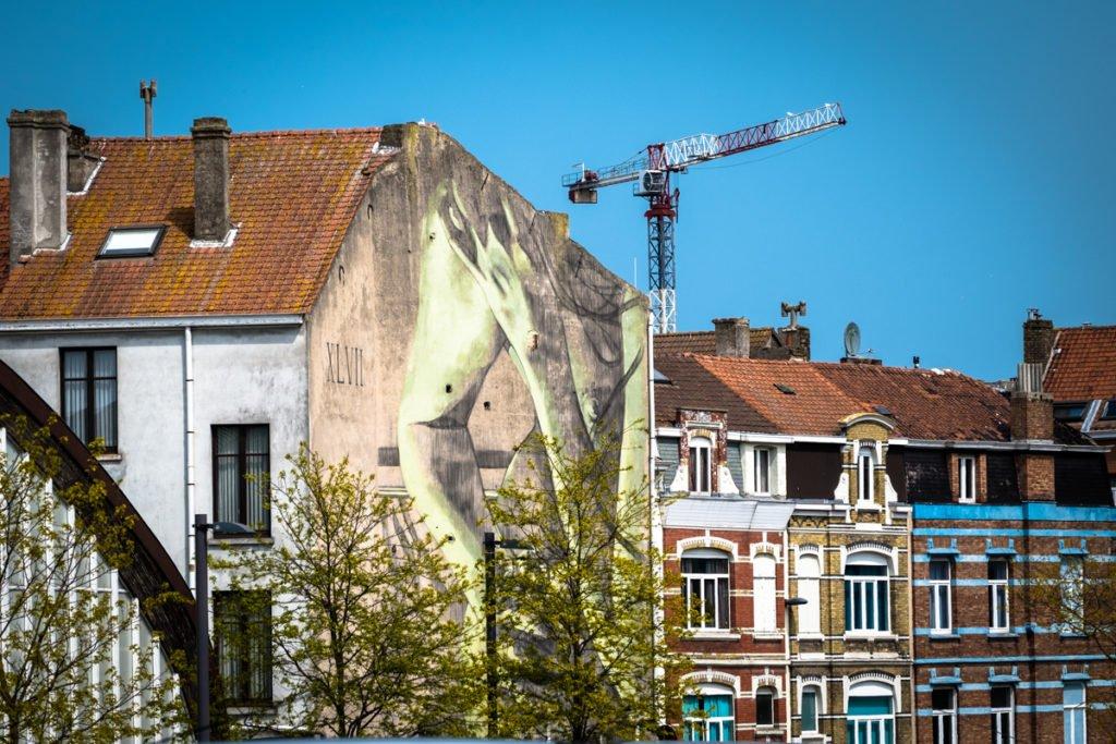 mural - faith47 - the crystal ship, oostende, belgium