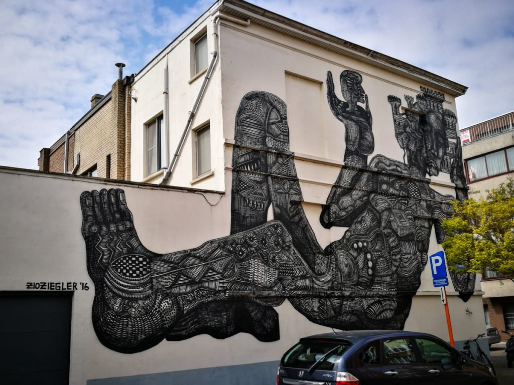 mural - zio ziegler - the crystal ship, oostende, belgium