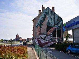 mural - hyuro - the crystal ship, oostende, belgium