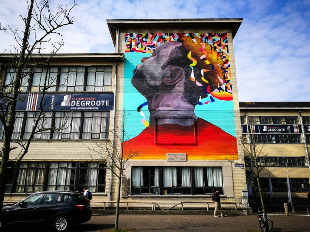 mural - eversiempre - the crystal ship, oostende, belgium