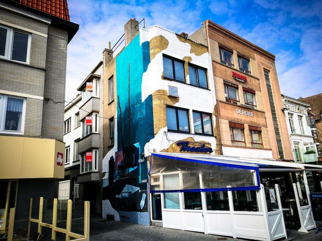 mural - johannes mundinger - the crystal ship, oostende, belgium