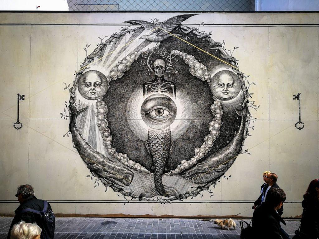 mural - alexis diaz - the crystal ship, oostende, belgium