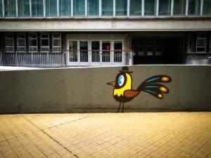 street art - bue the warrrior - the crystal ship, oostende, belg