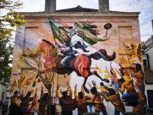 mural - jaz - the crystal ship, oostende, belgium