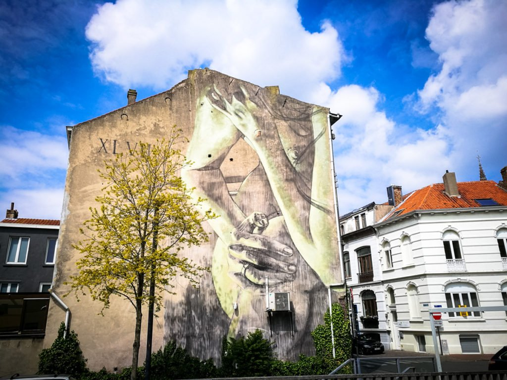 mural - faith47 - the crystal ship, oostende, belgium