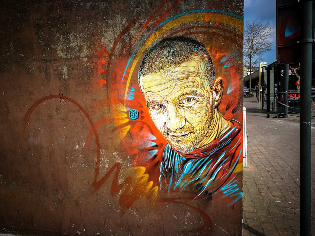 stencil - c215 - the crystal ship, oostende, belgium