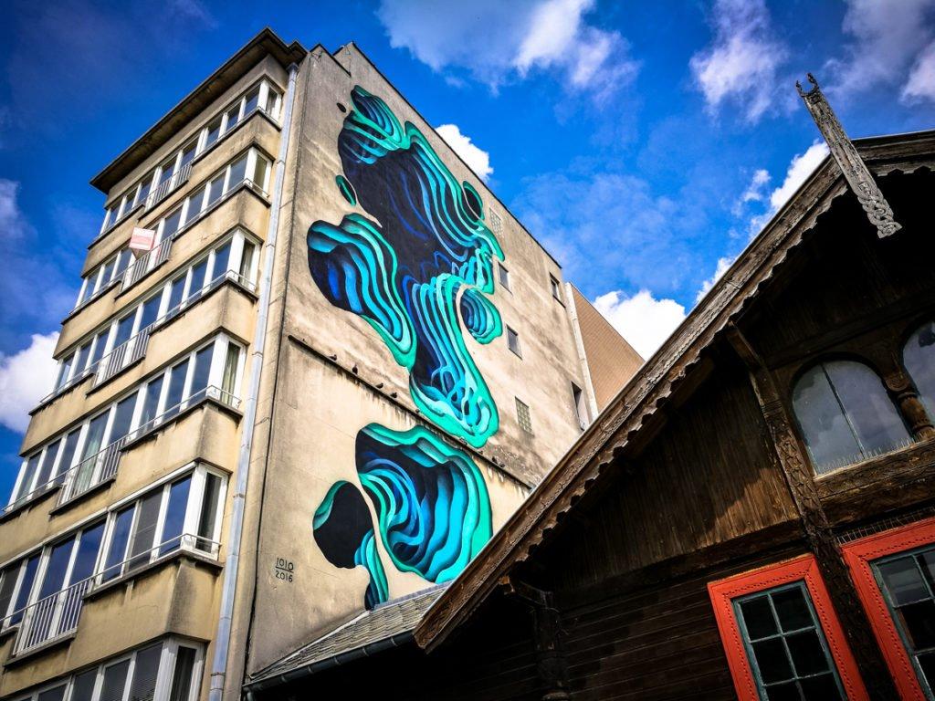 mural - 1010 - the crystal ship, oostende, belgium