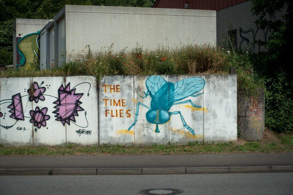 graffiti - 'time flies' - völklingen