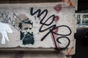 stencil - dircksenstrasse, berlin