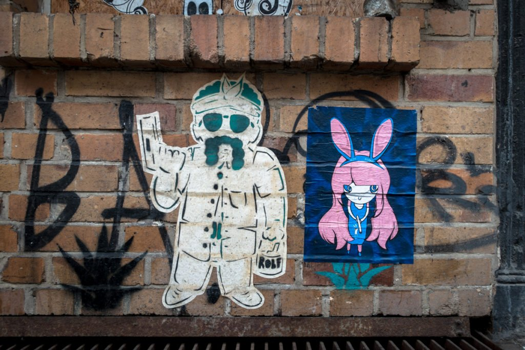 paste up - rolf & joiny - dircksenstrasse, berlin