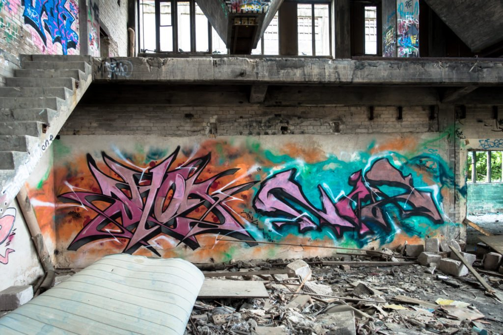 graffiti - jahok - rüdersdorf, chemical factory