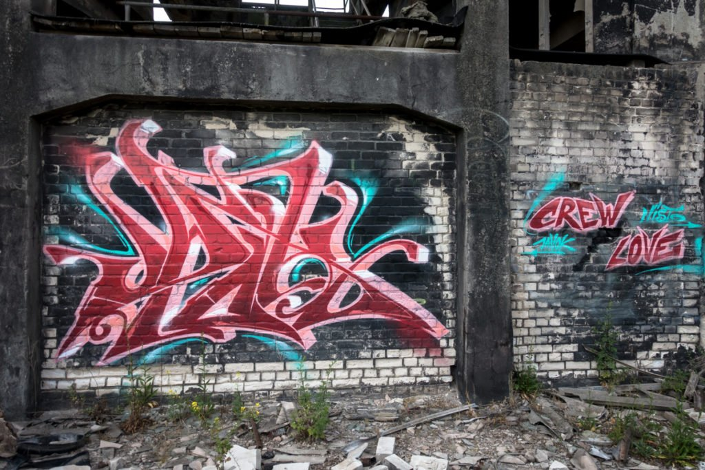 graffiti - jahok - rüdersdorf, chemical factory