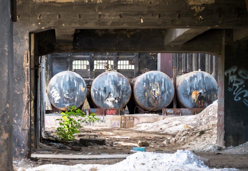 """urbex art im lost place """"chemiefabrik rüdersdorf"""""""