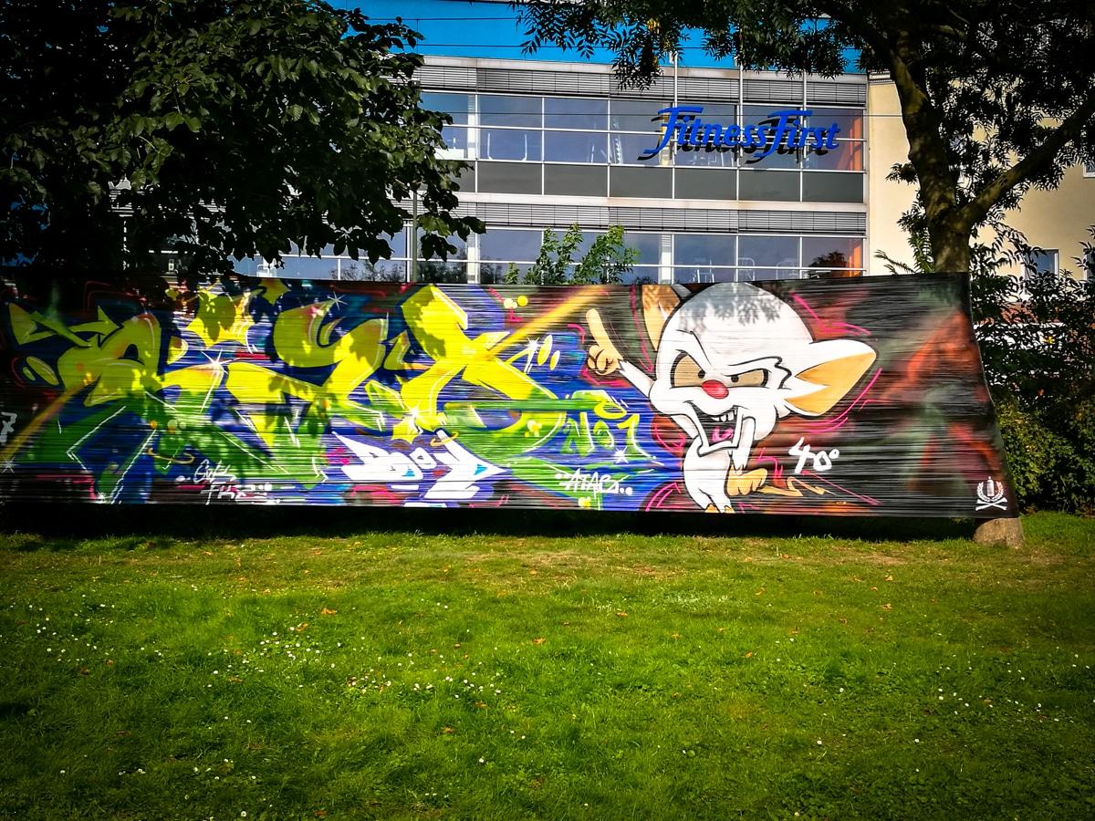 Graffiti Düsseldorf 40grad urbanart festival at ker acker düsseldorf urbanpresents