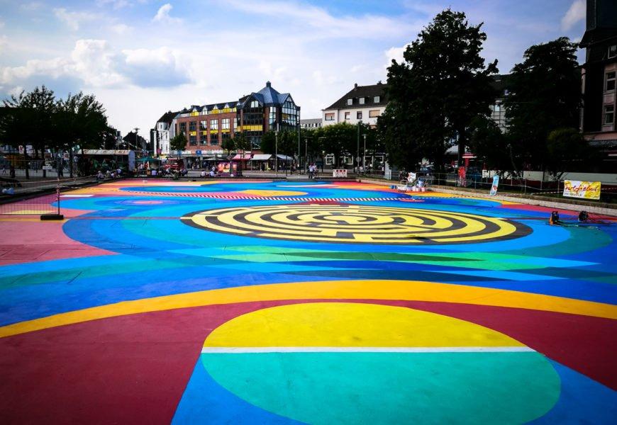 40grad urbanart festival auf dem kamper acker, düsseldorf