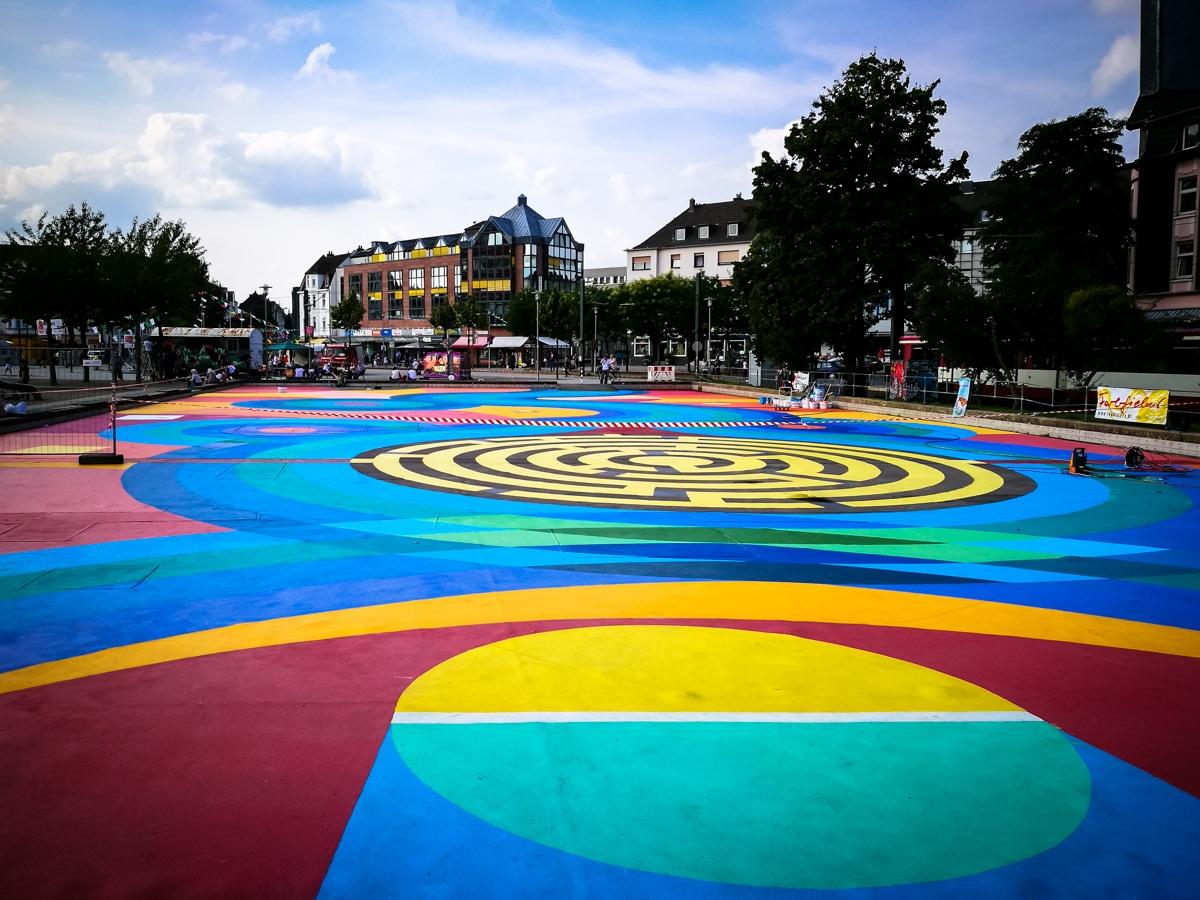 floorpainting – kamper acker, düsseldorf