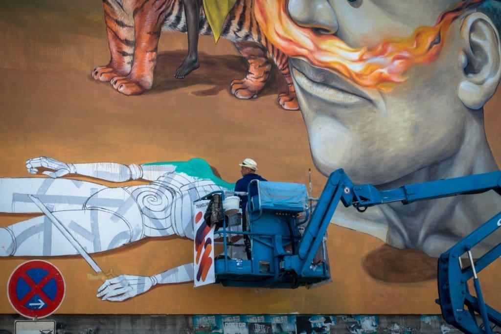mural, transurban 2017 – AEC interesni kazki – köln, ehrenf