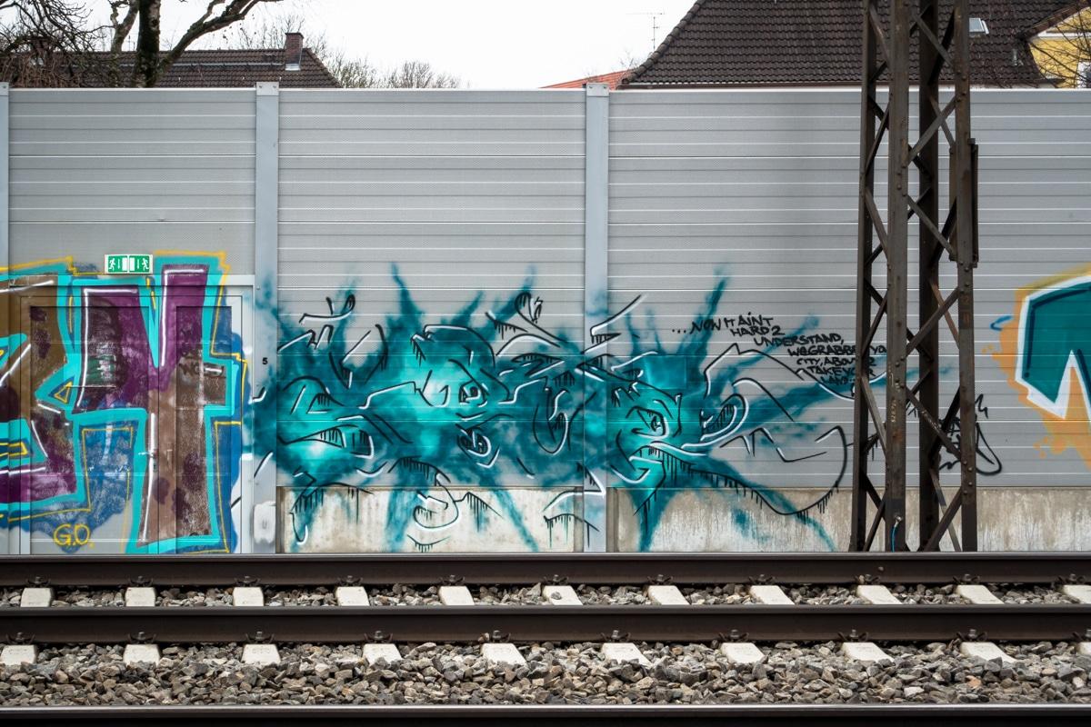 graffiti –  leuchtenbergring , münchen