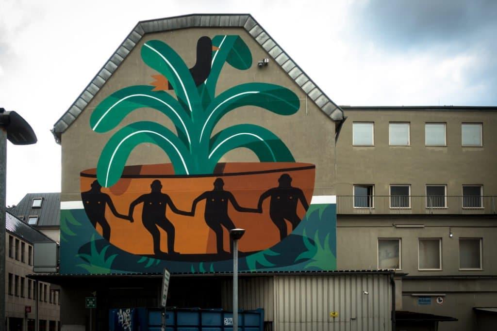 mural, cityleaks 2017 – agostino iacurci – köln, nippes