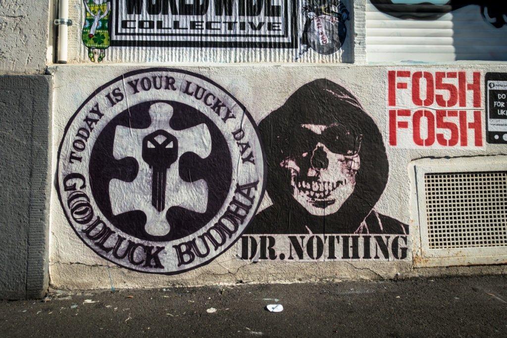 paste up - goodluck buddha & dr