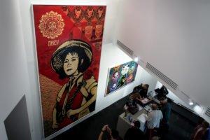 opening urban nation museum - shepard fairey
