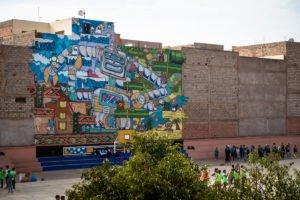 mural - poes & jo ber - lycée tarik ibn ziad, marrakesh