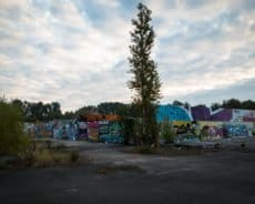 graffiti an der hall of fame, berlin-blankenburg