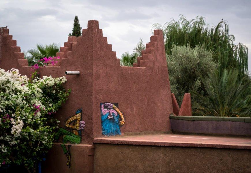 die gebäuden des jardin rouge,  oktober 2017 – marrakesch