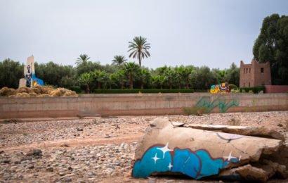 urban art in der direkte umgebung vom jardin rouge,  oktober 2017 – marrakesch