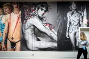 mario testino finisage with street art intervention - helmut new