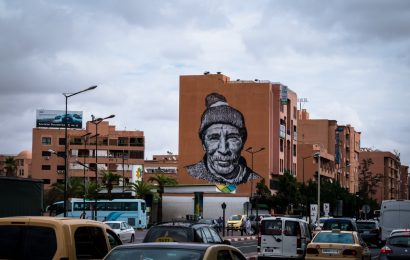 """tracing morocco""-mural hendrik beikirch, marrakesh"