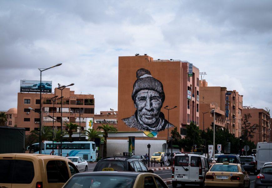"""tracing morocco""-mural hendrik beikirch, marrakesh"