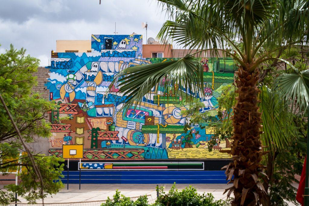 "mural ""destiny2000"" – poes & jo ber –  collège  tarik ibn ziad,"