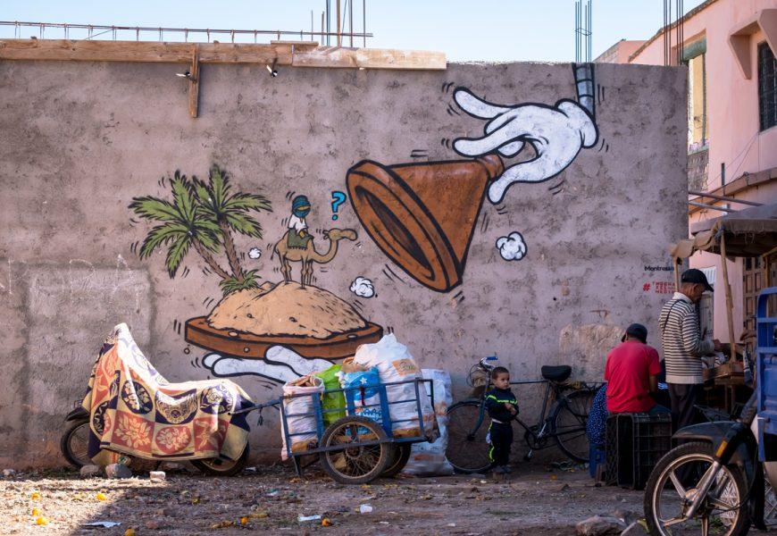 """jace graffiti parkour """"tmecha fel m'dina"""", marrakesch"""