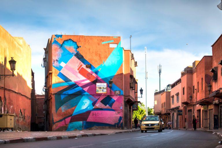 mural – madc – mb6streetart, marrakesh