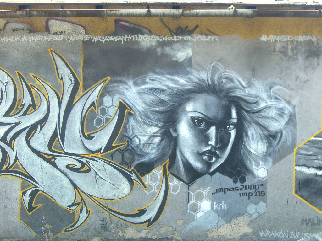 retrospektive­ #001: graffiti von impas in krakow 2007