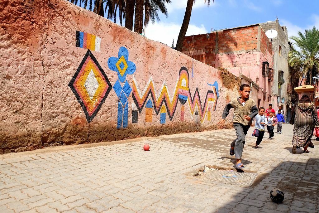 graffiti marrakech