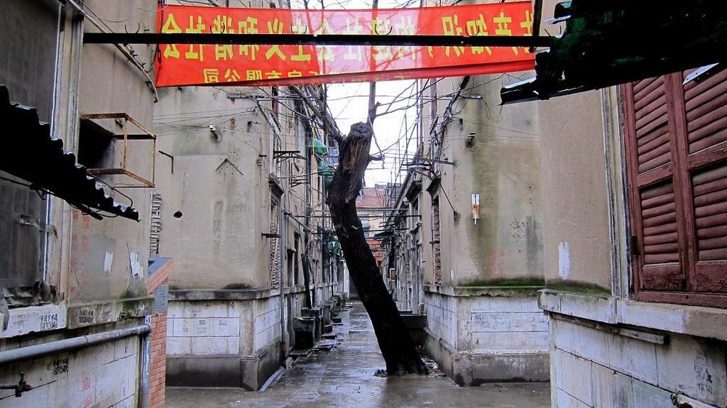 """leere siedlungen und der """"rucker park"""" in shanghai"""